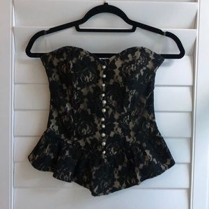 Lace faux corset from ModCloth